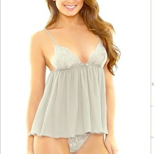 Other - WHITE Lace Babydoll - Perfect for all body types